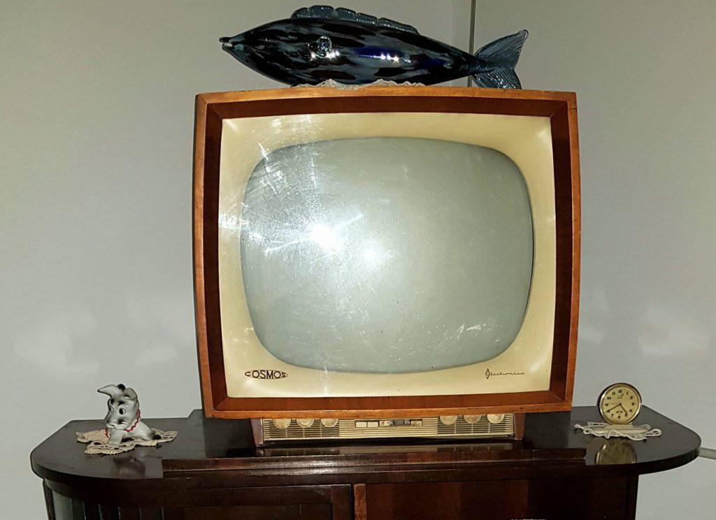 comunismul-in-dobrogea-televizor-alb-negru-cu-peste-pe-el