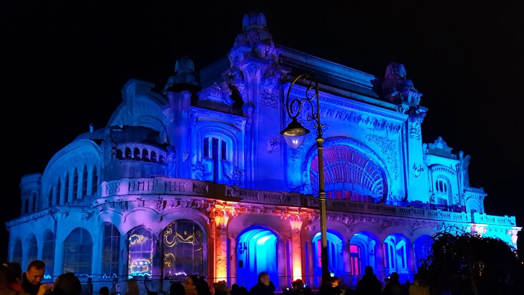 Cazino Constanta luminat arhitectual