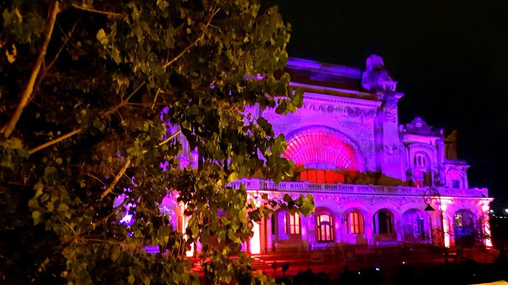 Cazino Constanta luminat arhitectural