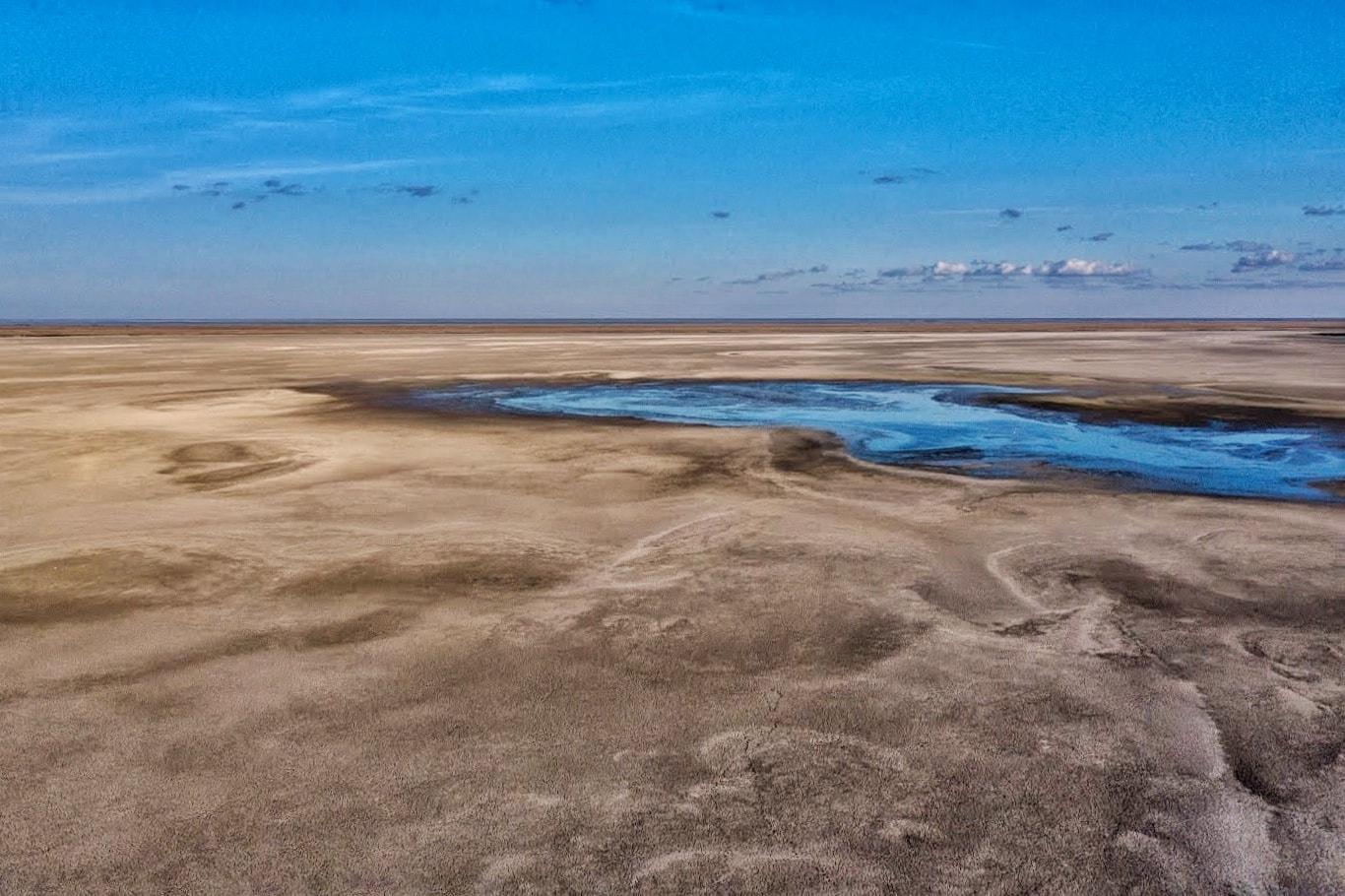 Lacul Nuntași, care a secat în această vară, are din nou apă