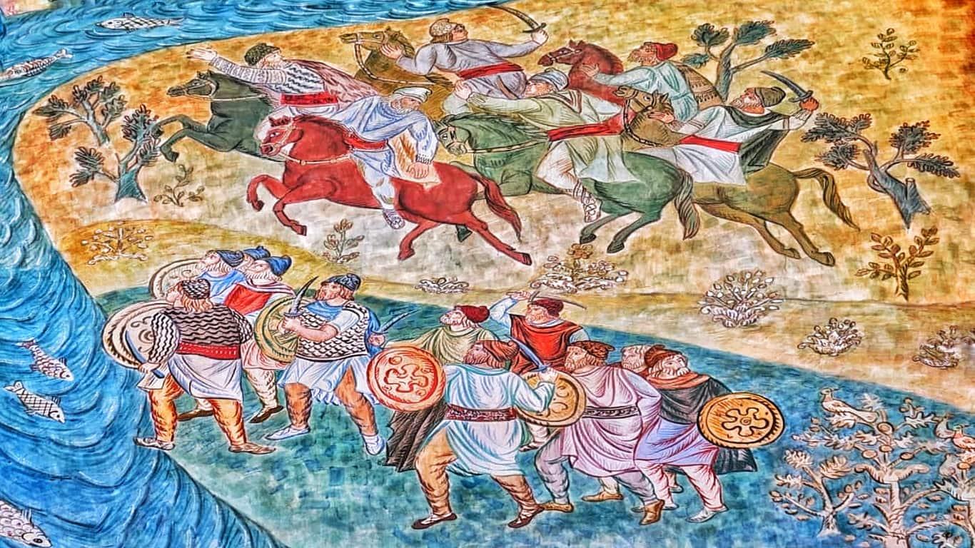 Sala pictată din Muzeul de Istorie Constanța, o incursiune prin Dacia antică